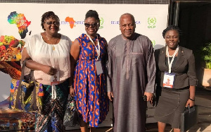 Former President John Mahama with others at the Agriculture Summit in Marrakech