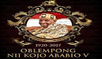 Oblempong Nii Kojo Ababio V ruled for 39 years as President of Ngleshie Alata Traditional Council