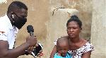 GhanaWeb Upper East Correspondent, Castro Senyalah speaking to mother of the little boy