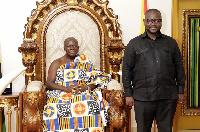 Otumfuo Osei Tutu II and Francis Asenso-Boakye