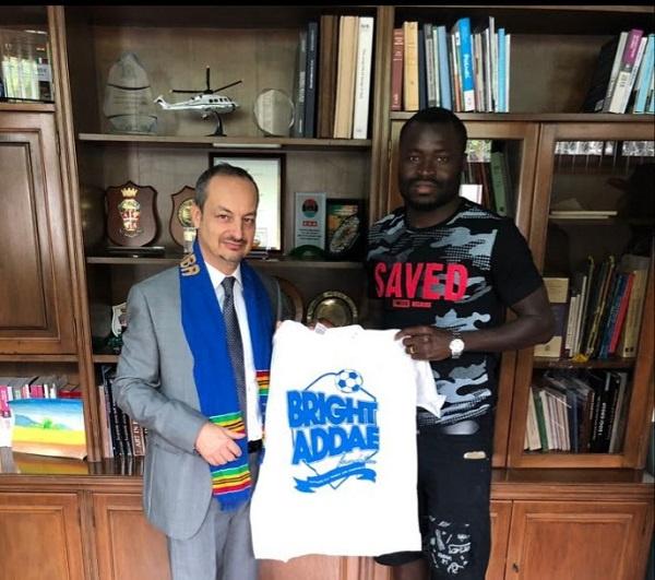 Bright Addae, Ghanaian International and former Under 20 World Cup medalist