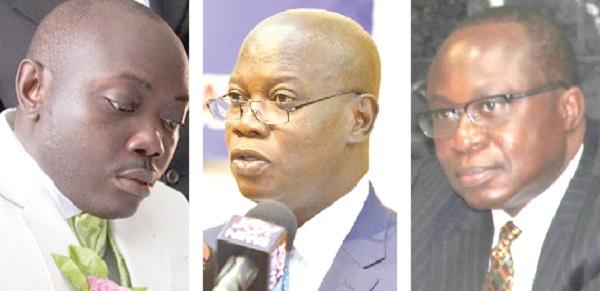 Dr Nana Owusu Ensaw(left), William Matthew Tetteh Tevie(middle), Eugene Baffoe-Bonnie(right)