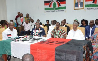 Amissah-Arthur, Asiedu Nketia with other members of NDC