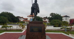 The Gandhi statue