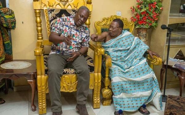 President Mahama and Offinsohene Nana Wiafe Akenten