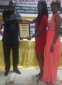 Freddies Corner officials receive the award