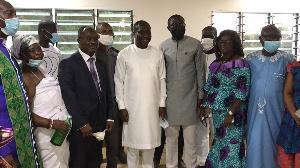 Afenyo Markin with some elders of Gyangyadze