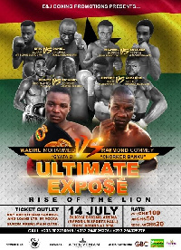 Wasiru 'Gyata Bi' Mohammed is fighting Raymond 'Chorkor Banku' Commey to defend his title