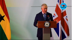 Prince Charles was speaking at a Commonwealth inspired Public Lecture in Ghana