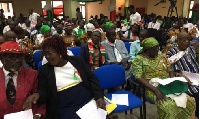 CPP supporters listen to education policy of party at manifesto launch.