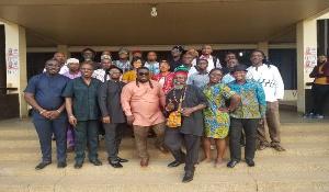 Bice Osei Kuffour aka Obour with the interim team of MUSICA
