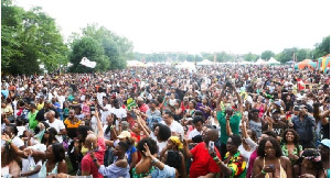 A section of the audience at the 3rd Annual Grace Jamaican Jerk Festival