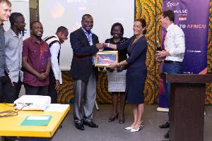 SETECH receiving their award