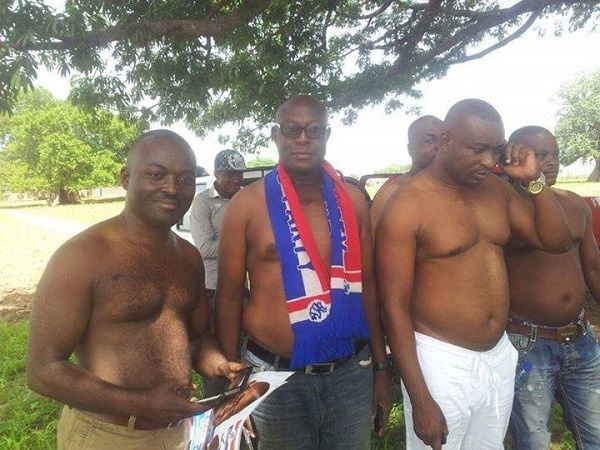 The NPP chairman said those who visited the Tindana had no regrets taking off their shirts
