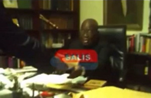 A scene from the alleged bribery video
