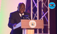 President Akufo-Addo speaking at the maiden edition of the Chamber Business Awards