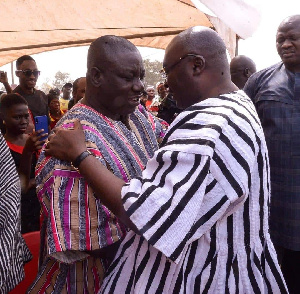 Dr. Bawumia's  sudden appearance at the funeral surprised and impressed mourners