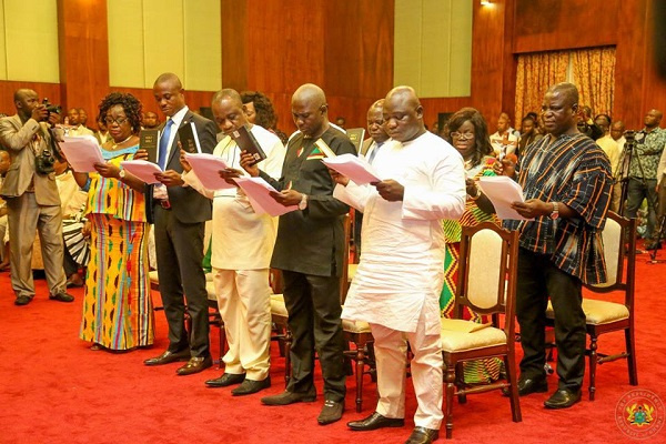Some ministers pledging their allegiance