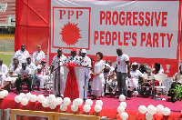 Dr Papa Kwesi Nduom, Flagbearer hopeful for PPP delivering his speech