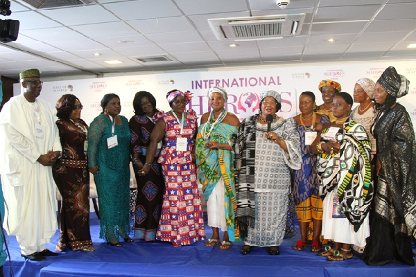 Dr Joyce Banda, Ex President of Malawi with patrons at the event