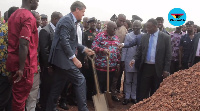 Akufo-Addo was joined by British High Commissioner and US Ambassador at the launch of the project