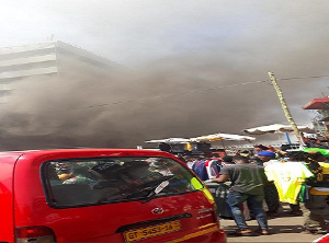 A photo of the fire disaster scene