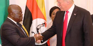 President of Ghana, Nana Addo Dankwa Akufo-Addo and US President, Donald John Trump