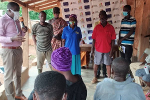 NCCE officials engaging residents in the Asutifi South District of the Ahafo Region