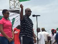 Former President John Mahama was addressing party enthusiasts at the Kumasi Unity Walk