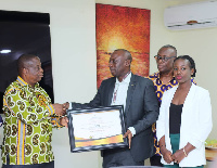 The director of Goil received a certificate from the organizers