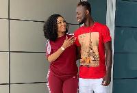 Serwaa Amihere with Black Stars' Kwabena Owusu