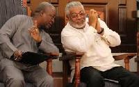President John Dramani Mahama with Former President Rawlings