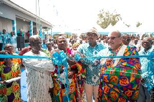 The ultramodern school block was built by Republic Bank Ghana