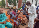 Minority Leader, Haruna Iddrisu led a delegation to commiserate with the family of late Dr. Gariba