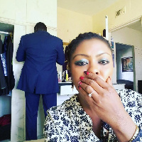 Afia Schwarzenegger with her supposed husband to be