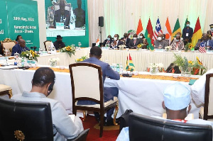 ECOWAS Heads of State at a meeting in Accra