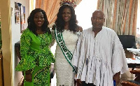 Rebecca Asamoah [middle] paid a courtesy call on the Ministry for Tourism, Culture and Creative Arts