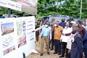 The amount is for the constructing and equipping of the new Eastern Regional Hospital at Koforidua