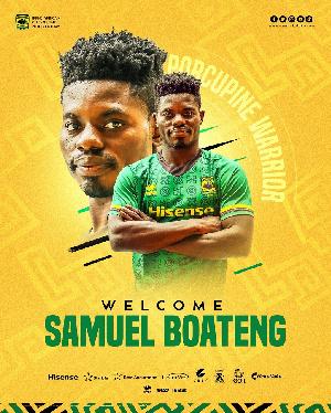 Striker Samuel Boateng has joined Asante Kotoko
