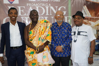From left: Justice Essiel, Eric Appiah, Anis Haffar - the writer and Theophilus Kwei