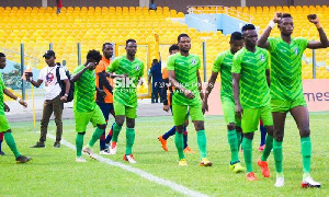 Bechem United Players Walk Out Of Tunnel GPL