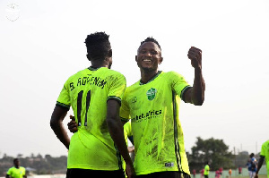 Joseph Esso Puts On A Broad Smile After Scoring For Dreams FC
