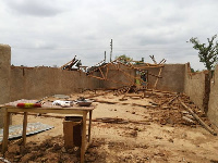 The rains also ripped off the roofing of four basic schools and three churches in the area