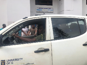 The alleged thief was handed over to hall authorities at the porter