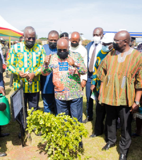 Meaning of fabric Akufo-Addo wore for 'Green Ghana' tree planting event. 54