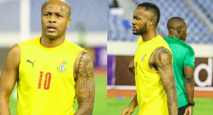 The Ayew brothers, Andre (left) and Jordan