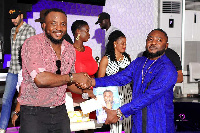 Chribs Drake with comedian DKB at the launch of last months edition of EventGuide Magazine