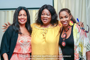 Mercy Asiedu with Adrienne-Joi Johnson and Michelle Rice