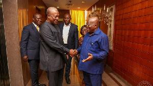 John Mahama and President Nana Addo Dankwa Akufo-Addo