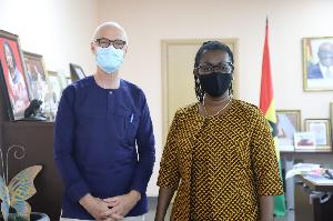 Minister Ursula Owusu meets with Norwegian ambassador to Ghana